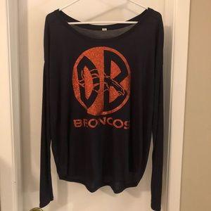 Denver Broncos long sleeve slouch shirt